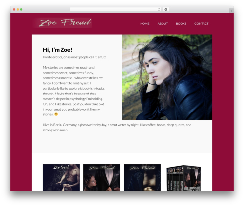 Best WordPress template Author Pro - zoefreud.com