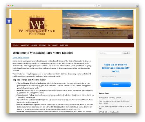 CleanWP free WordPress theme - windshireparkmetrodistrict.com