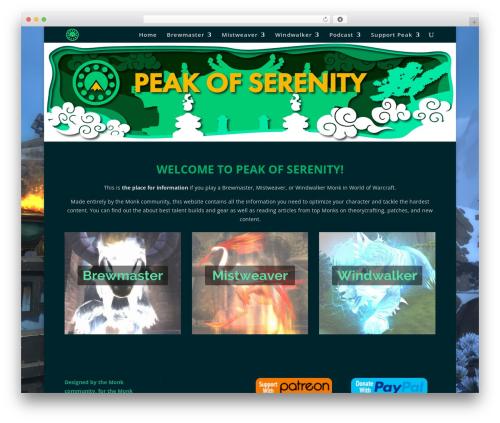Divi best WordPress theme - peakofserenity.com
