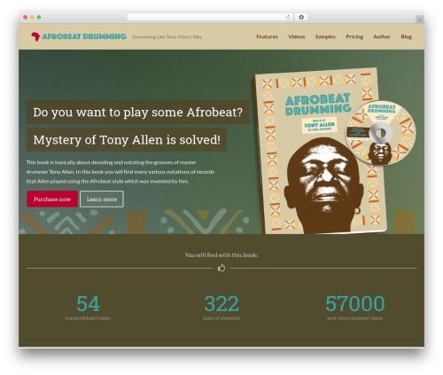 FlatBook WordPress page template - afrobeatdrumming.com