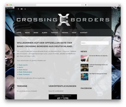 WordPress wolf-portfolio plugin - crossingxborders.com