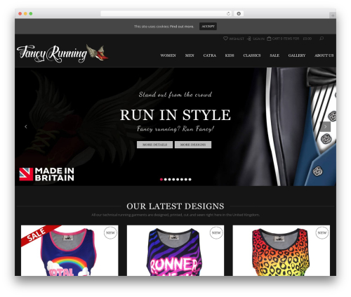LEGENDA WordPress theme design - fancyrunning.com