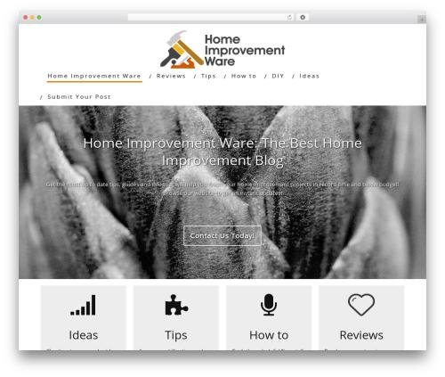 Minus WordPress blog theme - homeimprovementware.com