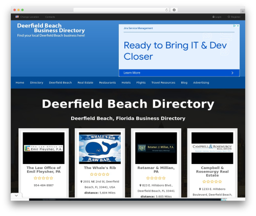 Responsive Business Theme WordPress template for business - deerfieldbeachdirectory.com