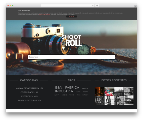 Stocky WordPress theme - shootandroll.com