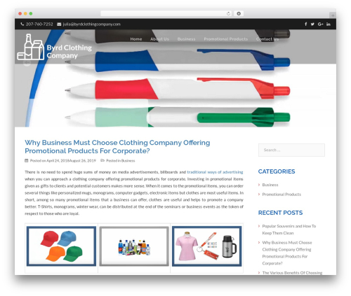 Template WordPress Interserver Platinum - byrdclothingcompany.com