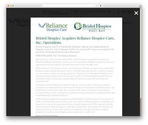 Template WordPress Senior 1.1.2 - reliancehospicecare.com