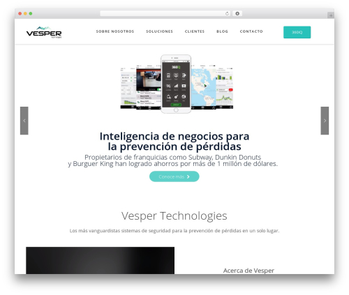 WordPress theme Fusion - vesper-tech.com