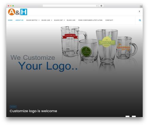 WordPress website template Online News - ah-glass.com