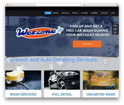 WP template CarWash - wetzonecarwash.com