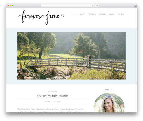 WP theme Olivie - foreverjuneevents.com