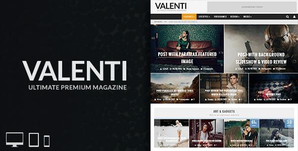 Best WordPress template Valenti(Released By Themestotal.com)