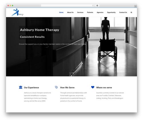 Bridge theme WordPress - ashburyhometherapy.com