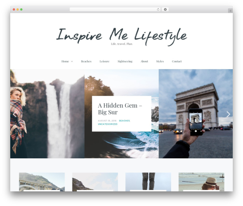 Carbis WordPress travel theme - inspiremelifestyle.com