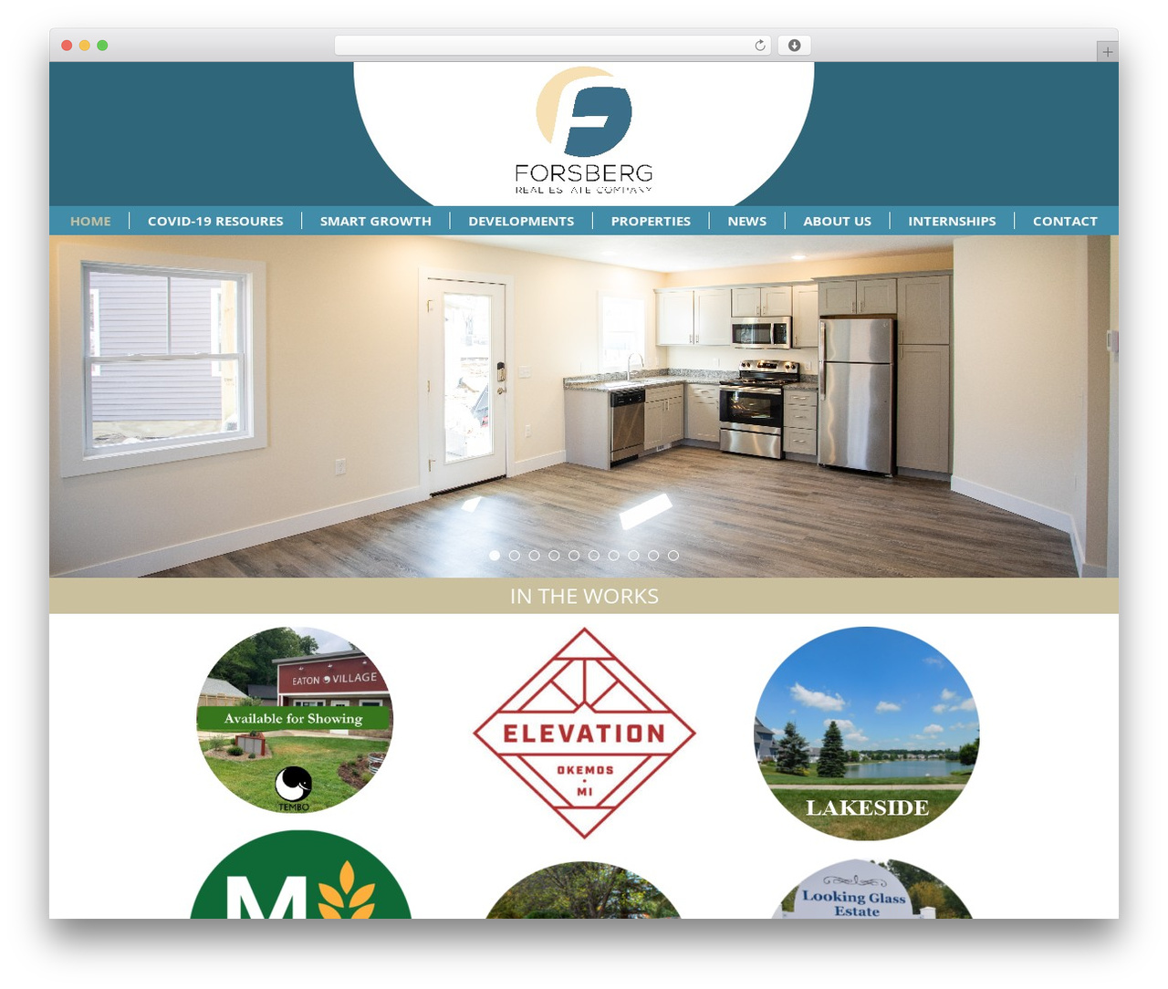 Chester WordPress website template - lansingrealestate.com