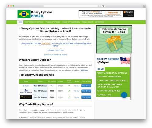 Financial Trading Theme theme WordPress - binaryoptionsbrazil.com