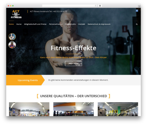 FitClub Pro theme WordPress - act-fitness.at
