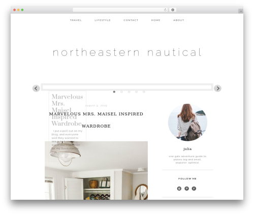 Genesis best WordPress template - northeasternnautical.com