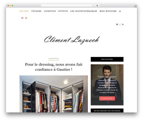 Heart and Style best WordPress template - clementlazuech.com