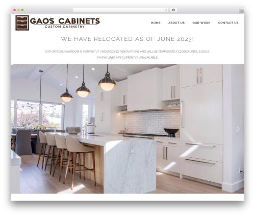LARX WordPress theme design - gaoscabinets.com