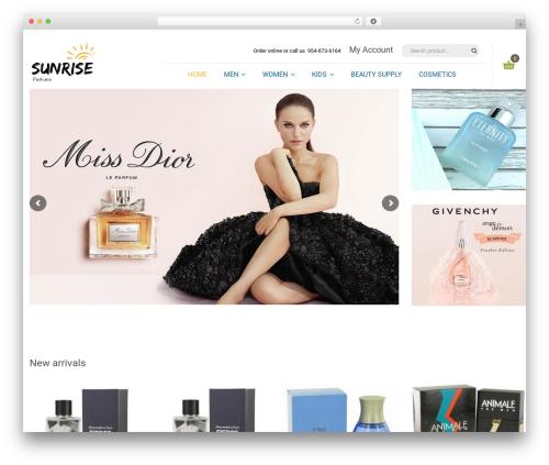Organica WordPress shop theme - sunriseperfume.com