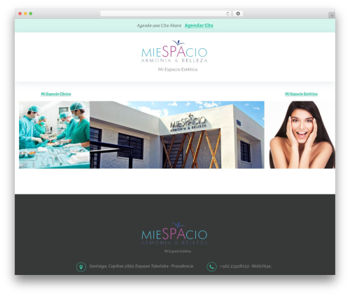 Pristine WordPress page template - miespacioestetica.com