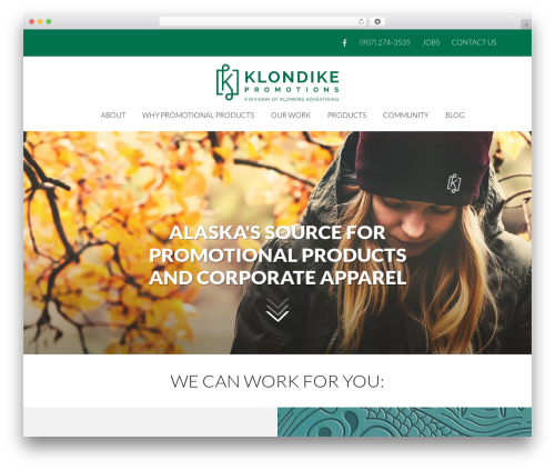 Sundog CORE WordPress template for business - klondikepromotions.com