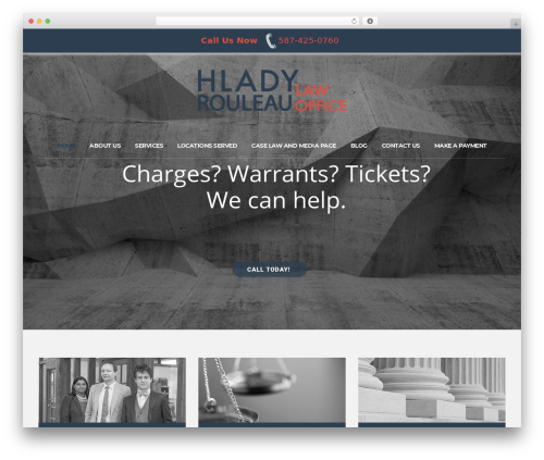 Template WordPress Consulting - hladyrouleau.com