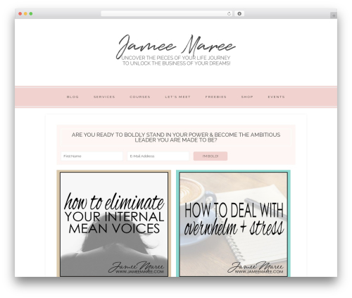 WordPress theme Faithful Theme - jameemaree.com