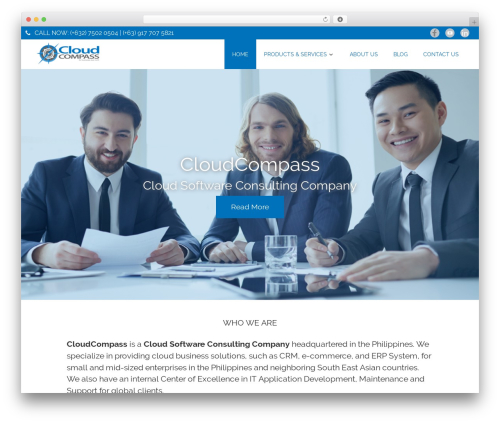 WordPress theme Poseidon - cloudcompasstech.com