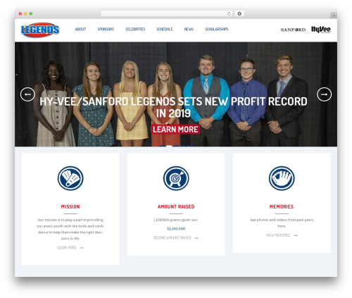 WordPress website template Ri Charitable - legendsforkids.com