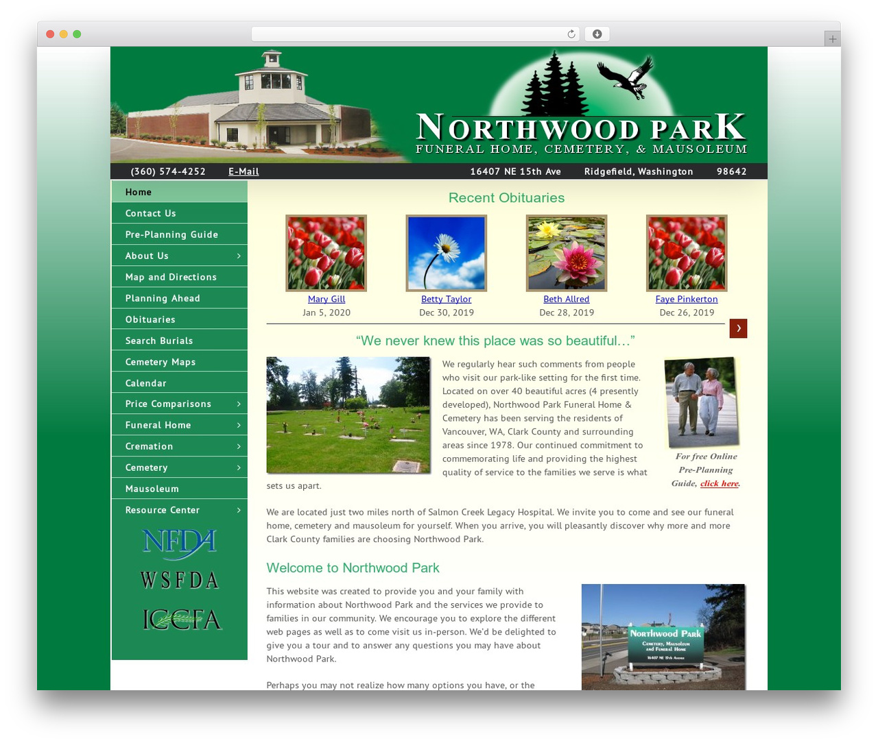 Avada best WordPress template - northwoodparkfh.com