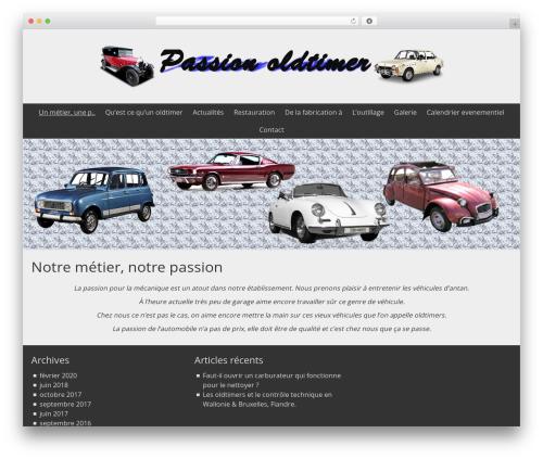 BlueGray template WordPress free - passionoldtimer.com