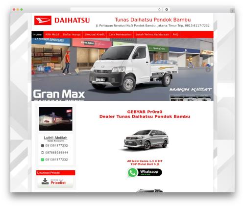 Dealer Mobil WordPress page template - promodaihatsukredit.com
