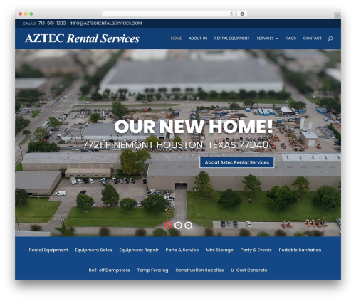 Divi WordPress theme - aztecrentalservices.com