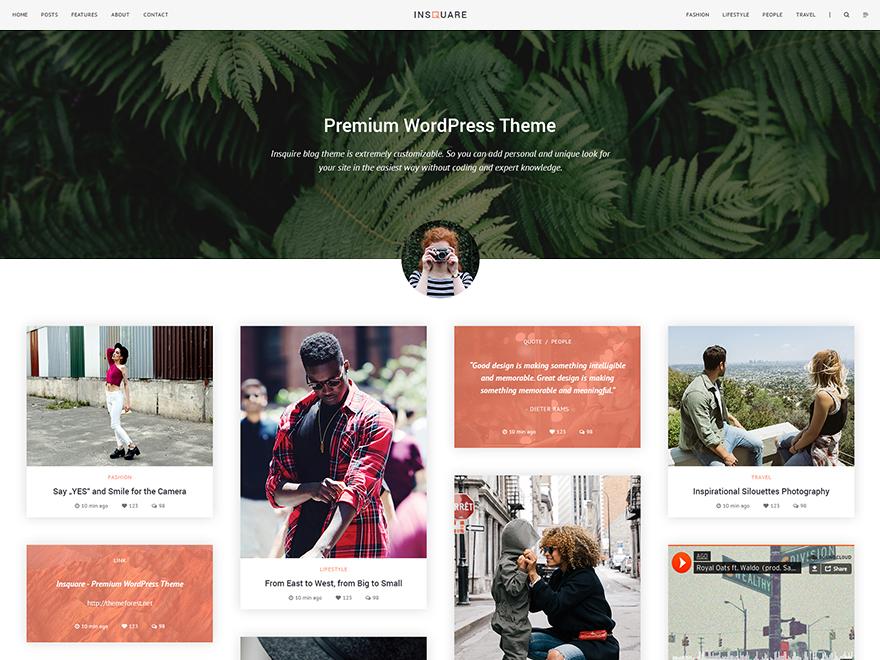 Insquare premium WordPress theme