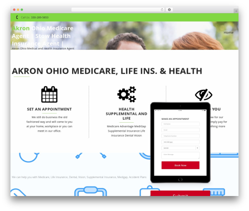 InstaAppointment Lite WordPress website template - ohiomedicarepro.com