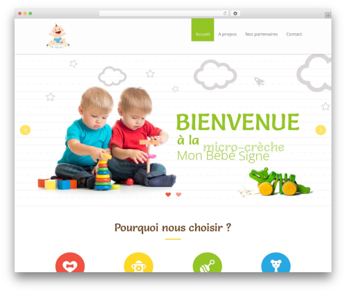 Kiddie theme WordPress - monbebesigne.com
