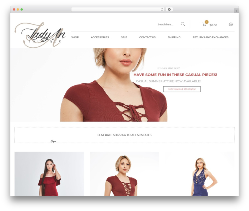 Kute Boutique WordPress theme - ladyanboutique.com