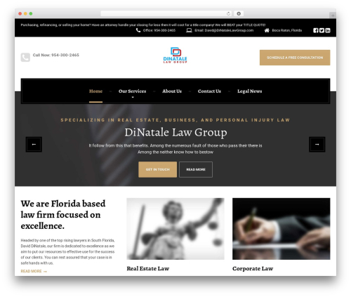 LegalPress by ProteusThemes real estate template WordPress - dinatalelawgroup.com