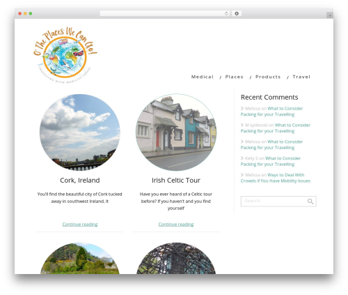 Minus WordPress travel theme - otheplaceswecango.com