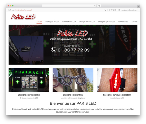 Nominee theme WordPress - paris-led.com