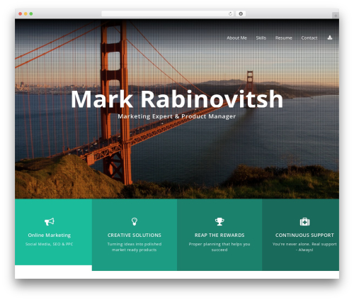 Selfie free WordPress theme - markrabinovitsh.com