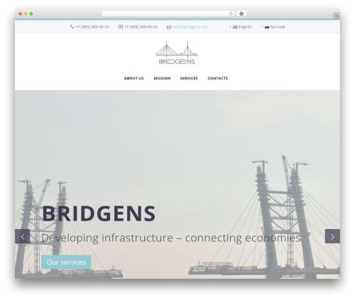 TheGem business WordPress theme - bridgens.com