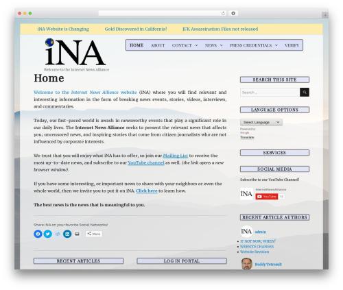 Twenty Sixteen WordPress theme free download - internetnewsalliance.com