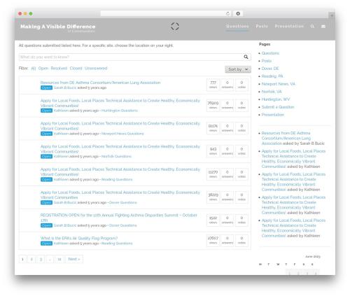Free WordPress DW Question & Answer plugin - makingavisibledifference.com