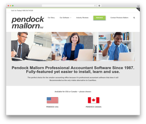 WordPress theme Avada - pendock.com