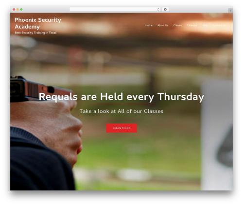 WordPress theme Sydney - phoenix-securityacademy.com