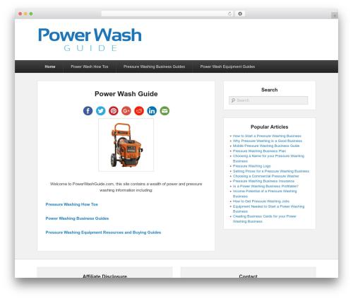 WP template Catch Evolution Child - powerwashguide.com