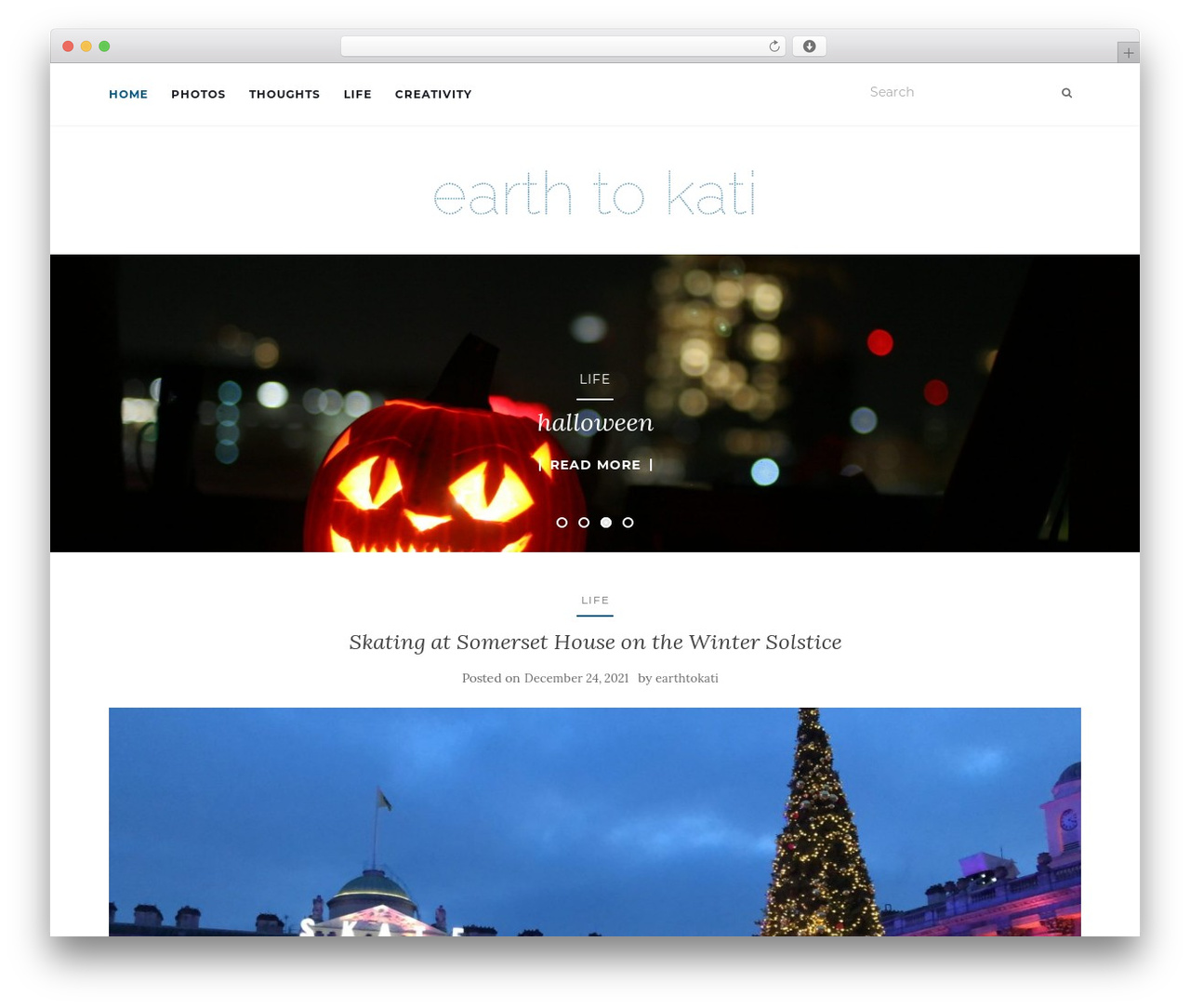 Activello best WordPress theme - earthtokati.com